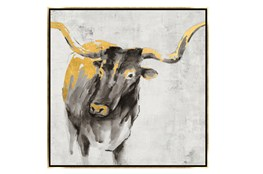 Picture-30X30 A Cow In Golden Rays Framed