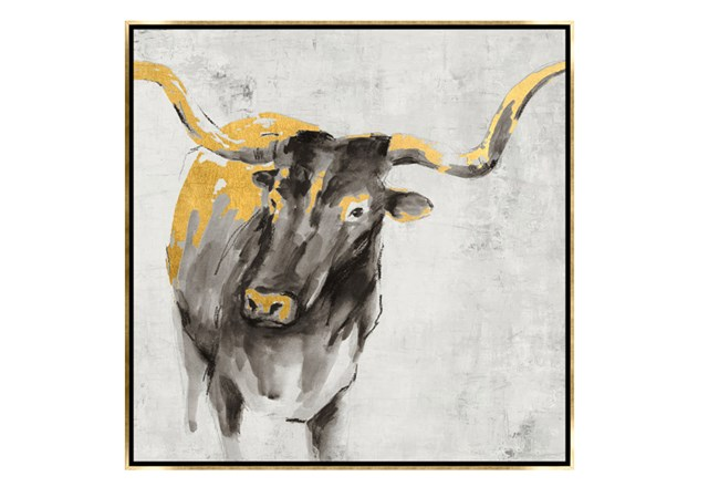 Picture-30X30 A Cow In Golden Rays Framed - 360