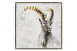 Picture-30X30 A Sheep In Golden Rays Framed