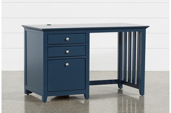 """Taylor Navy 48"""" Desk With USB"""