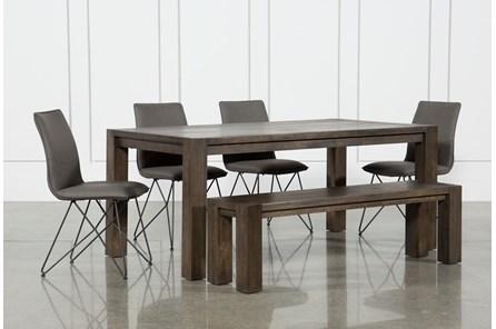Benson 6 Piece Extension Dining Set W/Ranger Chairs