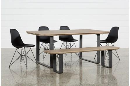 Forma 6 Piece Dining Set W/Alexa Black Chairs