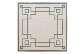 105X105 Square Outdoor Rug-Greek Key Border Sage