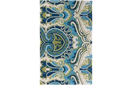 96X120 Outdoor Rug-Surat Aqua/Green