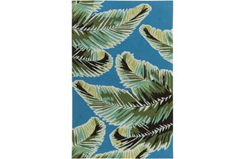 60X90 Outdoor Rug-Samara Palm Blue/Green
