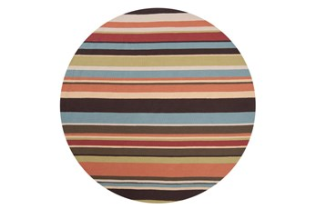 96 Inch Round Outdoor Rug-Montego Stripe Multi