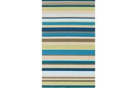 60X96 Outdoor Rug-Montego Stripe Blue/Green