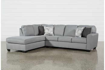 "Mcdade Ash 2 Piece 114"" Sectional With Left Arm Facing Armless Chaise"