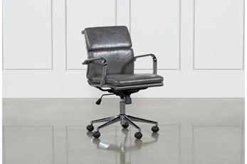 Moby Grey Low Back Desk Chair
