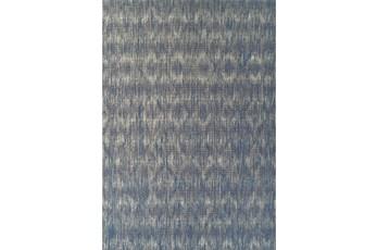 61X84 Outdoor Rug-Indigo Blue Distressed Damask