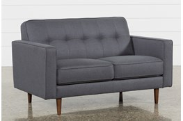 "London Dark Grey 58"" Loveseat"