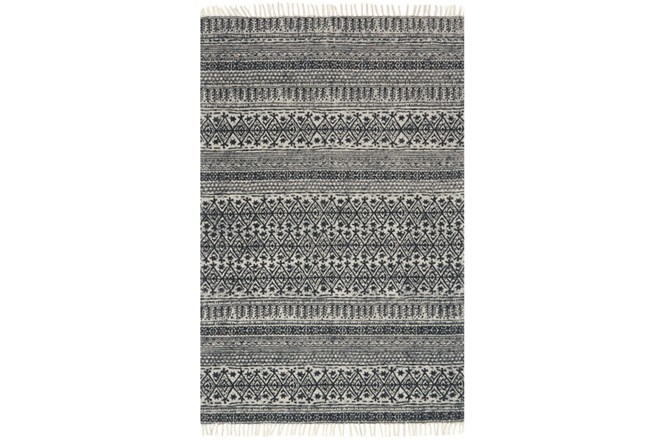 60X90 Rug-Magnolia Home June Black By Joanna Gaines - 360