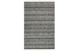 93X117 Rug-Magnolia Home June Black By Joanna Gaines