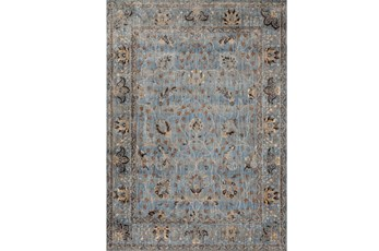63X92 Rug-Magnolia Home Kivi Lt Blue/Clay By Joanna Gaines