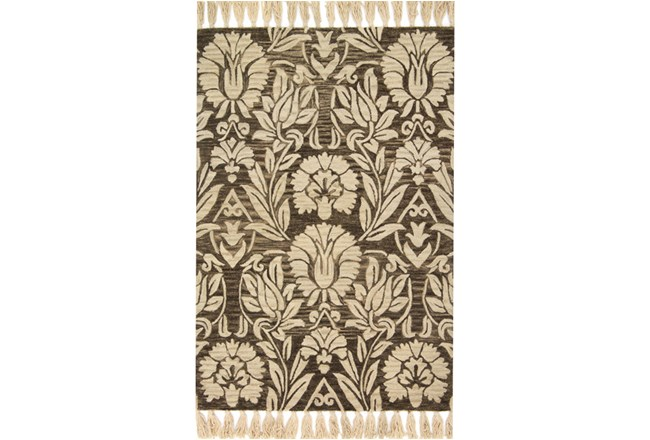 93X117 Rug-Magnolia Home Jozie Day Charcoal By Joanna Gaines - 360