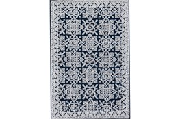 93X117 Rug-Magnolia Home Lotus Midnight/Silver By Joanna Gaines