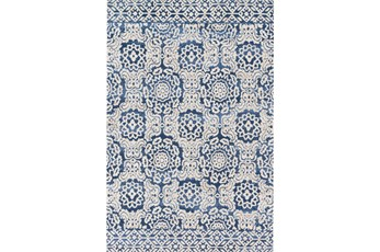 93X117 Rug-Magnolia Home Lotus Blue/Antique Ivory By Joanna Gaines