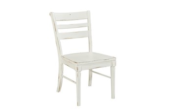 Magnolia Home Kempton White Side Chair By Joanna Gaines