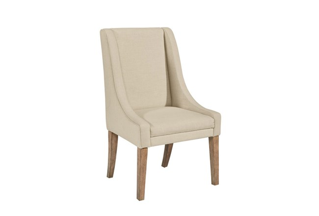 Magnolia Home Demi Linen Wing Side Chair By Joanna Gaines - 360