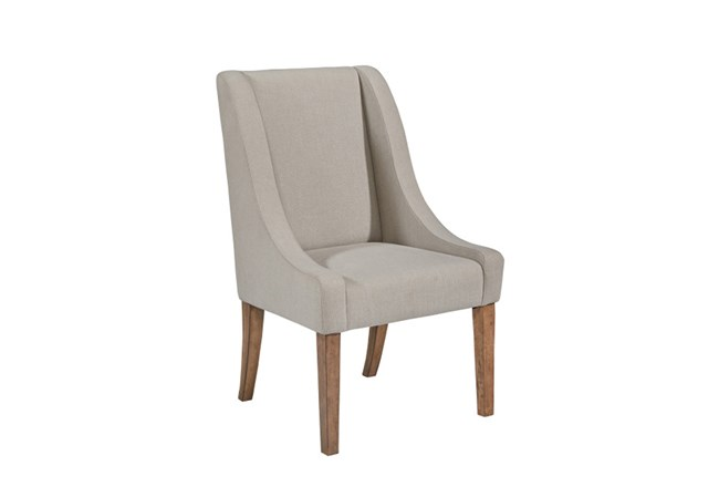 Magnolia Home Demi Flannel Wing Side Chair By Joanna Gaines - 360