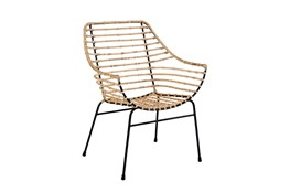 Magnolia Home Entwine Rattan Arm Chair By Joanna Gaines