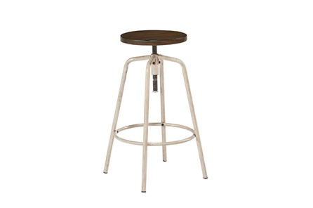 Magnolia Home Antique White Factory Stool By Joanna Gaines