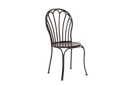 Magnolia Home Peacock Blackened Bronze Metal Side Chair By Joanna Gaines
