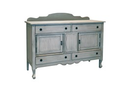 Magnolia Home Silhouette Dove Grey Sideboard By Joanna Gaines