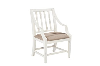Magnolia Home Revival Jo'S White Arm Chair By Joanna Gaines