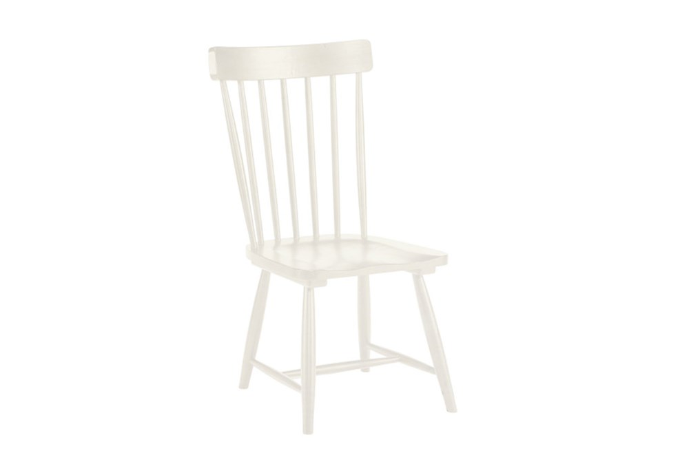 Magnolia Home Spindle Back Jo'S White Side Chair By Joanna Gaines