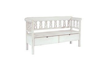 Magnolia Home White Hall Bench With Storage By Joanna Gaines