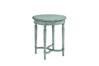Magnolia Home Pie Crust French Blue Tall Side Table By Joanna Gaines