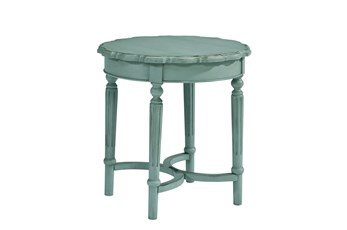 Magnolia Home Pie Crust French Blue End Table By Joanna Gaines
