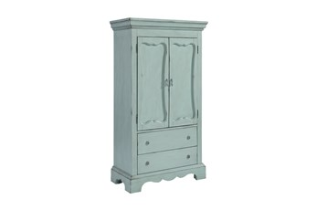 Magnolia Home Cameo French Blue Armoire By Joanna Gaines