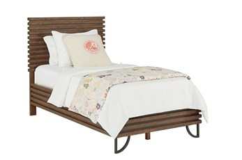 Magnolia Home Stacked Slat Twin Panel Bed By Joanna Gaines