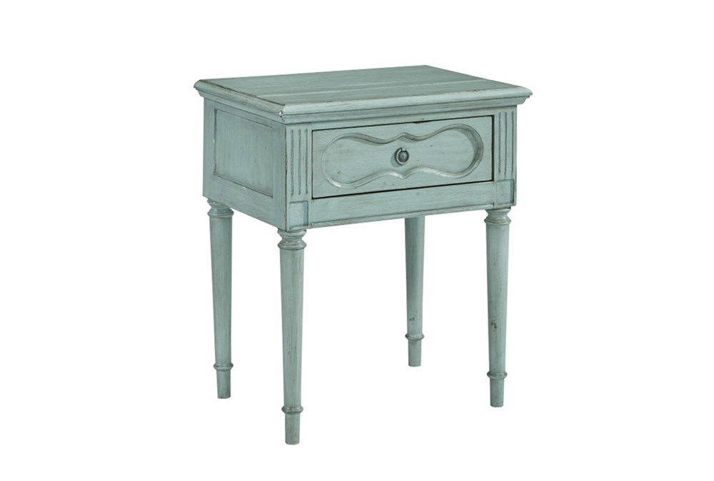 Magnolia Home Cameo French Blue Night Table By Joanna Gaines