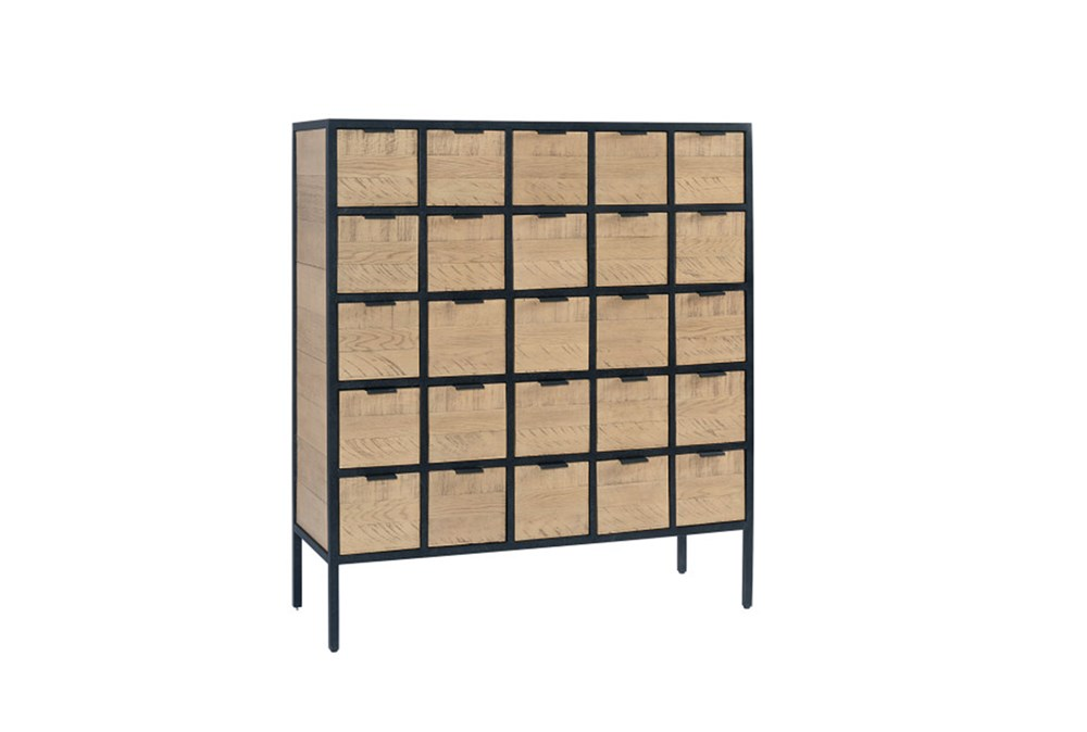 Magnolia Home Grid Utility 25-Drawer Chest By Joanna Gaines