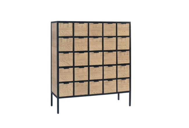 Magnolia Home Grid Utility 25-Drawer Chest By Joanna Gaines - 360