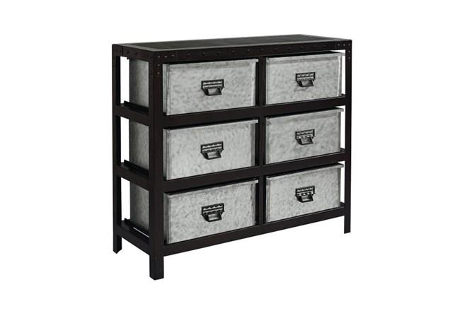 Magnolia Home Metal Storage Bin Chest By Joanna Gaines - 360