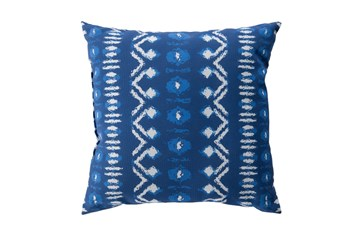 Outdoor Accent Pillow-Indigo Batik 18X18