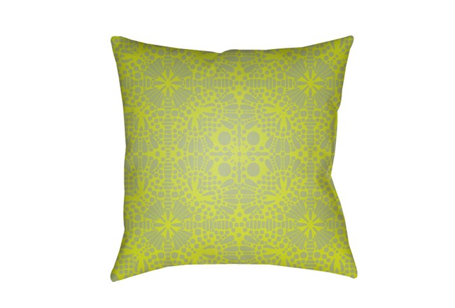 Outdoor Accent Pillow-Henna Pattern Lime 18X18 - 360