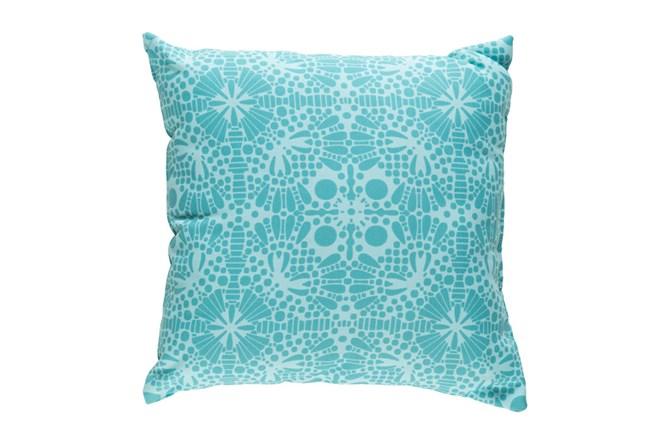 Outdoor Accent Pillow-Henna Pattern Aqua 18X18 - 360