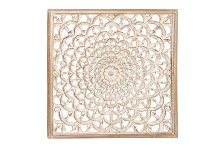 Square Wood Carved Wall Decor