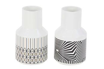 9 Inch Geo Pattern Vase Assorted