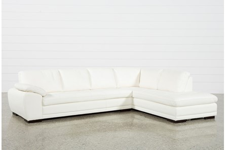 Vaughn II Alabaster 2 Piece Sectional W/Raf Chaise