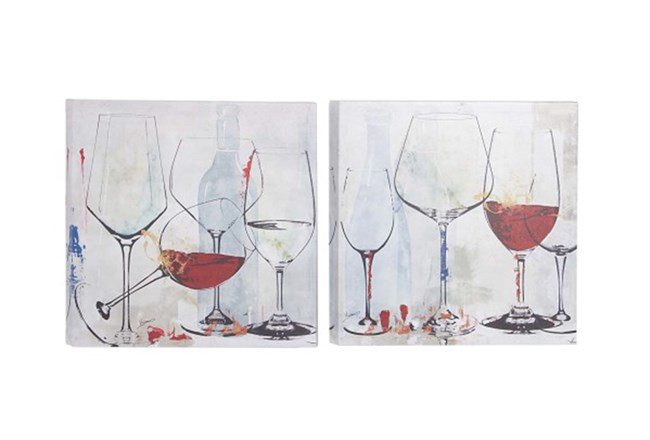 Picture-Wine Glasses Set Of 2 16X16 - 360