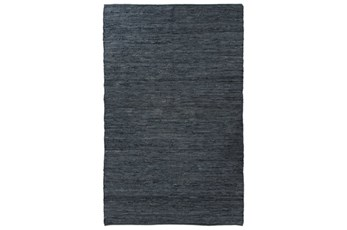 99X123 Rug-Slate Handwoven Leather