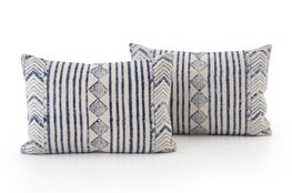 Accent Pillow-Faded Denim Diamond 16X24 Set Of 2