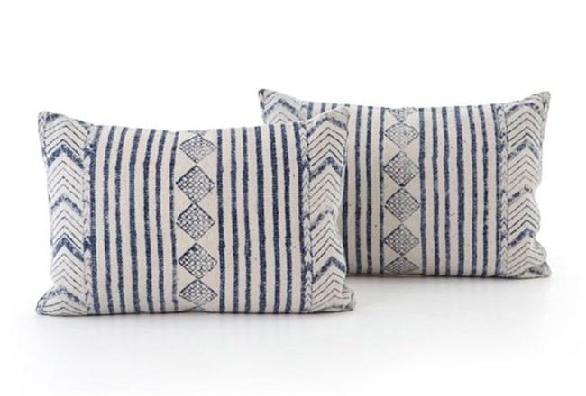 Accent Pillow-Faded Denim Diamond 16X24 Set Of 2 - 360