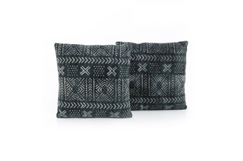Accent Pillow-Mud Cloth Print 20X20 Set Of 2